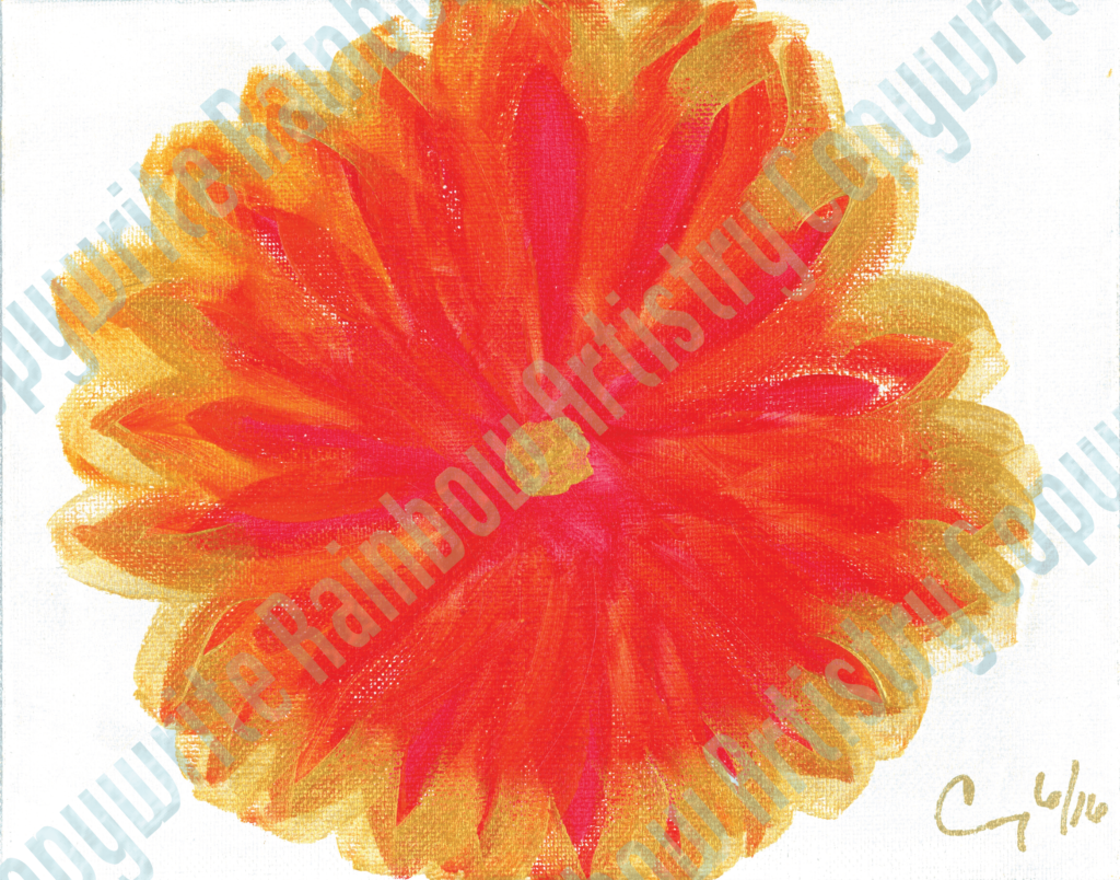 Fire Flower by Cindy T. All Rights Reserved.