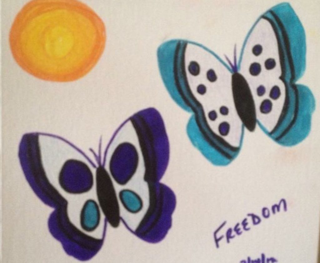 Freedom Butterflies 1 by Cindy T. All Rights Reserved.