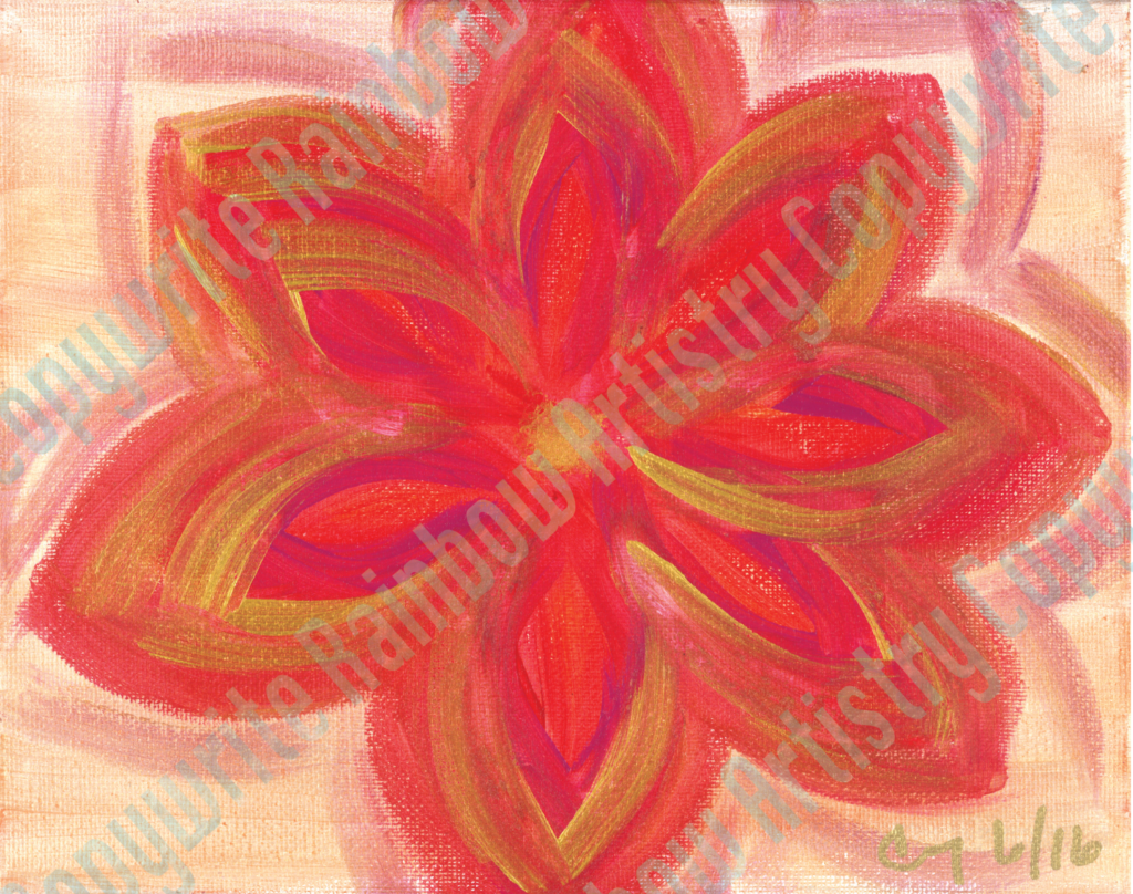 Red Bronze Flower by Cindy T. All Rights Reserved.