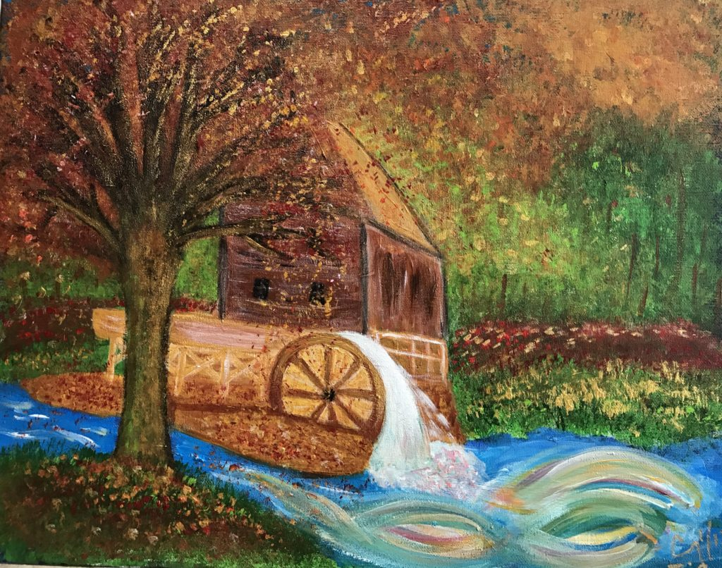 Thriving Watermill by Cindy T. All Rights Reserved.